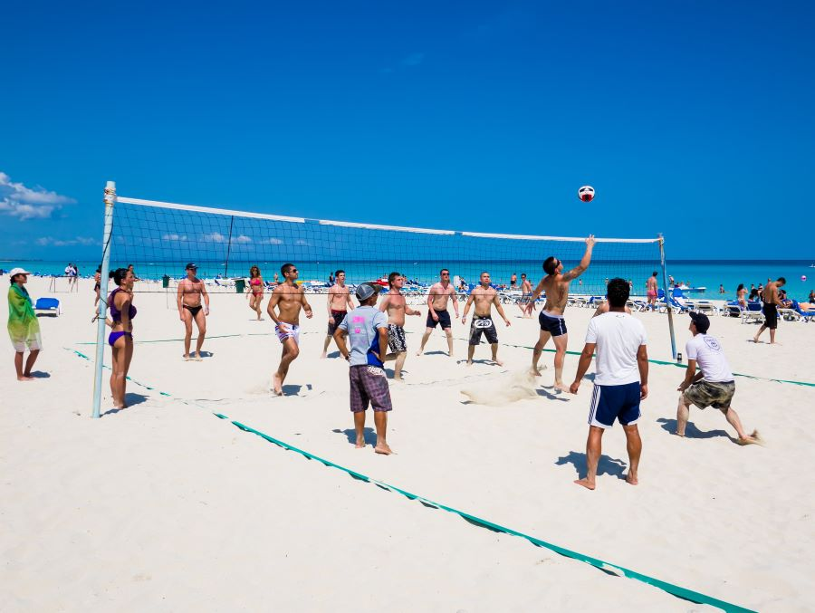 Beach volleyball is a fun project celebration activity