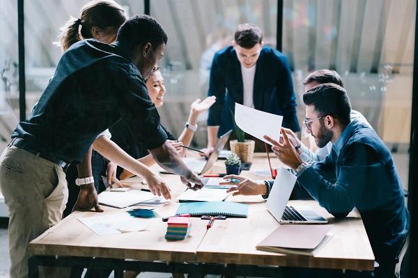 Risk identification involves teamwork and brainstorming.